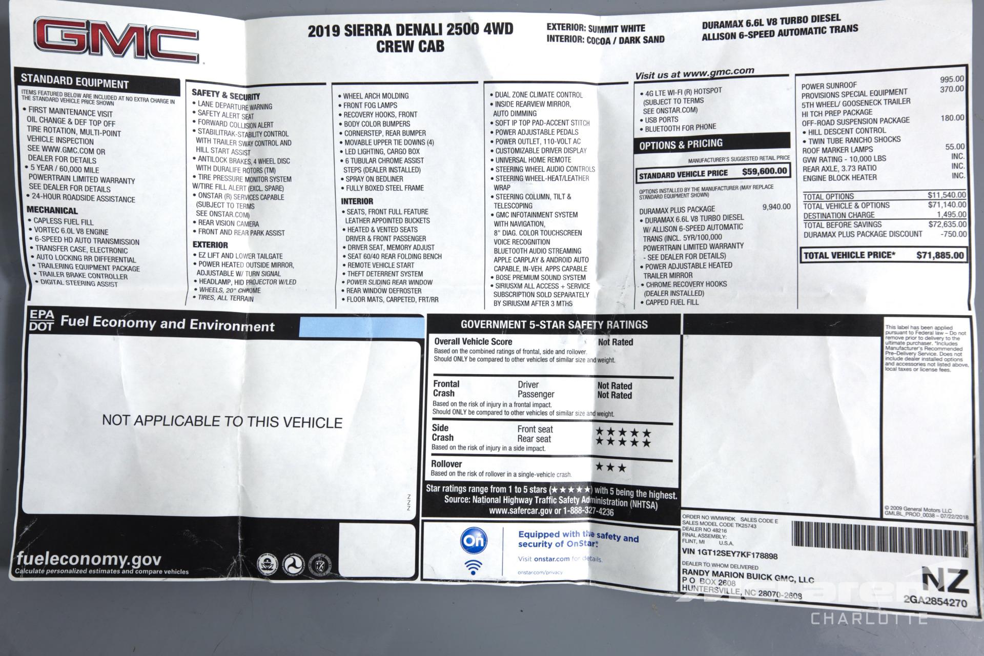 Used 2019 GMC Sierra 2500HD Denali | Charlotte, NC