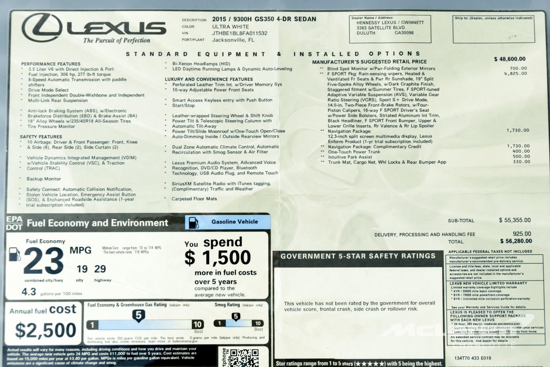 Used 2015 Lexus GS 350    Charlotte, NC