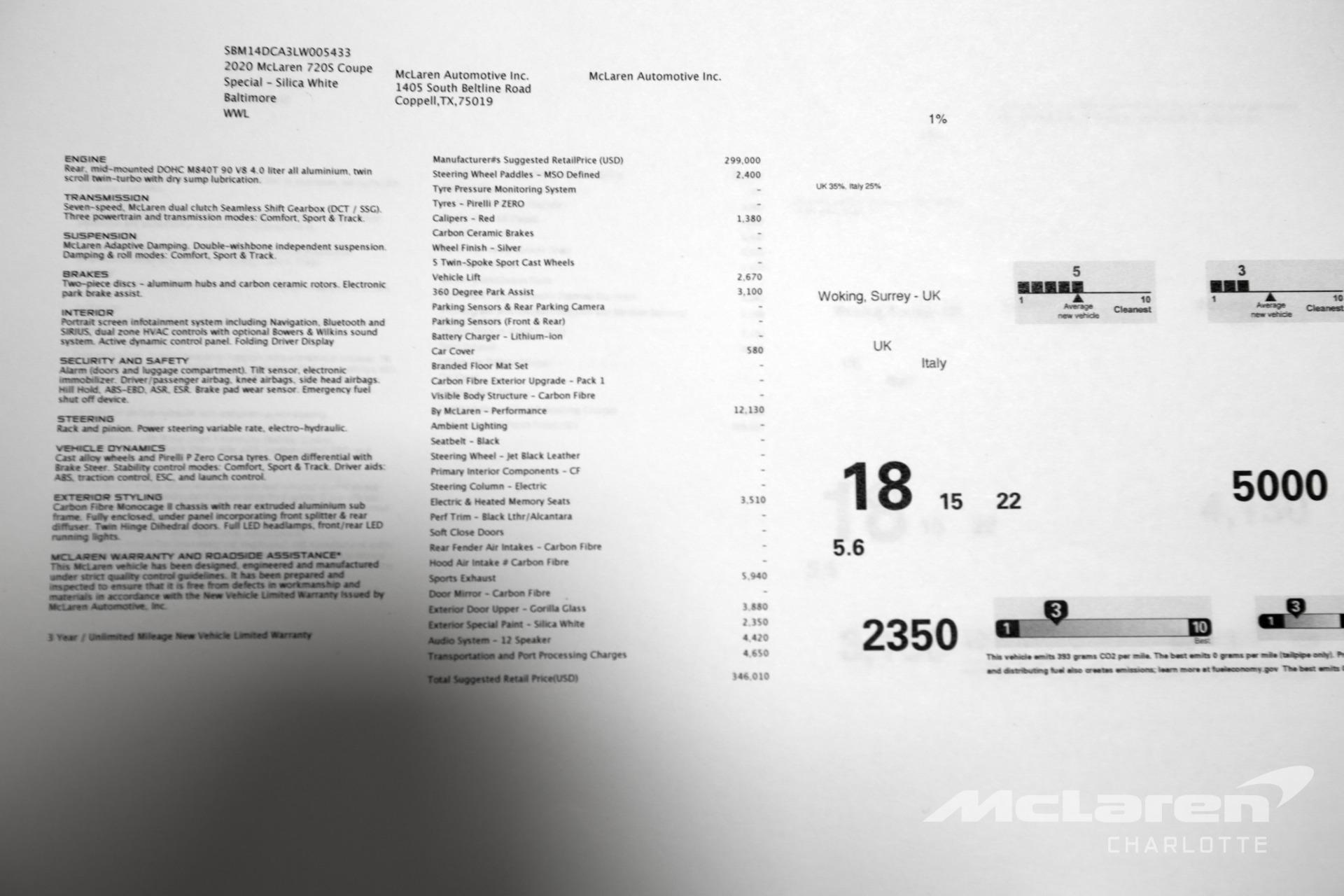 Used 2020 MCLAREN 720S Performance | Charlotte, NC