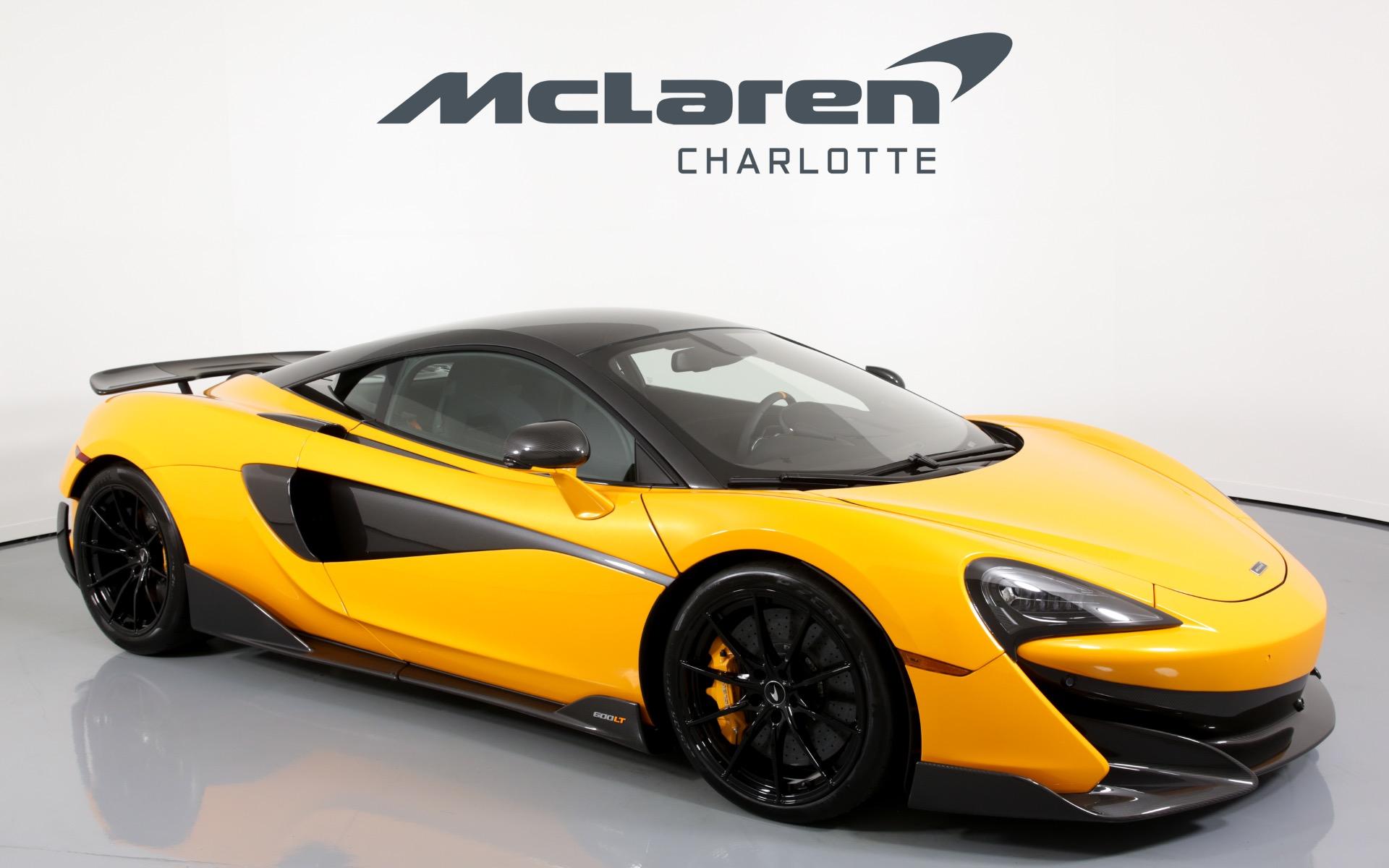 2019 McLaren 600LT Yellow & Black Charlotte McLaren