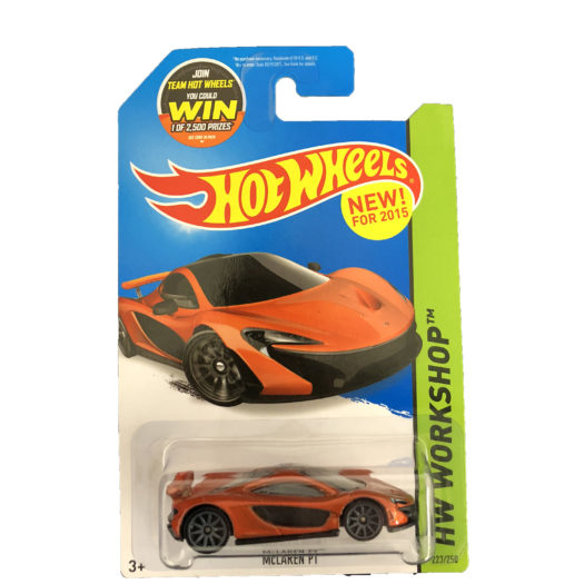 McLaren Official Mattel P1 Toy Car